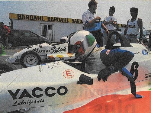 Formula Ford 1800 Zetec Giorgio Vinella 1995 French Championship race win Croix en Ternois vittoria with Patrice Gay e David Terrien SportAuto