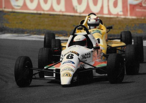 Formula Ford 1800 Zetec Giorgio Vinella 1995 Olympic Motorsport French Championship race Magny Cours leading race