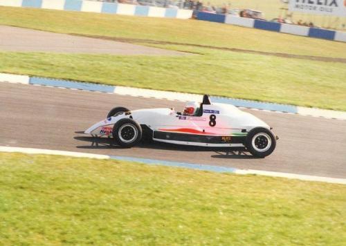 Formula Ford 1800 Zetec Giorgio Vinella 1995 Olympic Motorsport Slick50 British Championship race Donington Park