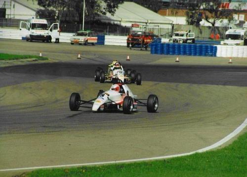 Formula Ford 1800 Zetec Giorgio Vinella 1995 Olympic Motorsport Slick50 British Championship race Silverstone National