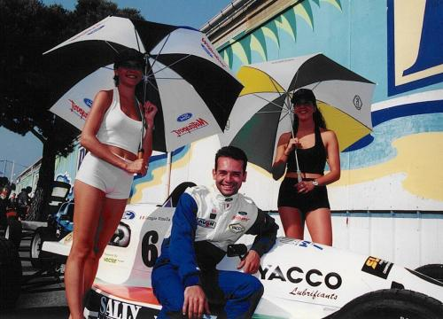 Formula Ford 1800 Zetec Giorgio Vinella 1995 Olympic msport french Championship before race Croix en Ternois