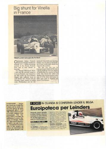 Formula Ford 1800 Zetec Giorgio Vinella 1995 articles Autosprint and motoring news European championship Eurocup Zandvoort and Paul Ricard