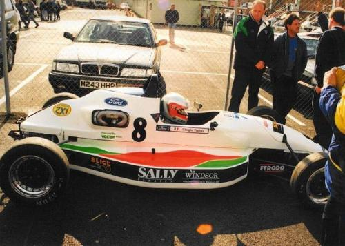 Formula Ford 1800 Zetec Giorgio Vinella 1995 before race Olympic Motorsport Slick50 British Championship  Silverstone 1