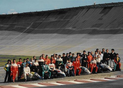 Formula Ford 1800 Zetec Giorgio Vinella 1995 group picture French Championship  Race Montlhery Paris
