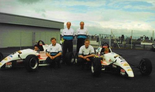 Formula Ford 1800 Zetec Giorgio Vinella 1995 parc ferme team Olympic Motorsport Slick50 British Championship 2
