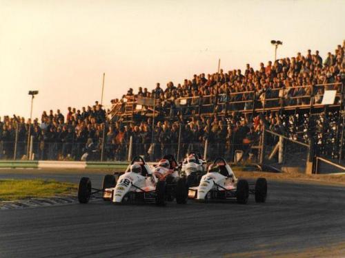 Formula Ford 1800 Zetec Giorgio Vinella October 1995 Festival Brands Hatch win semifinal leading   paddock corner final