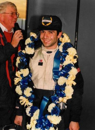 Formula Ford 1800 Zetec Giorgio Vinella October 1995 Festival Brands Hatch with Kevin McGarrity  Mario Haberfeld runner up interviewed by Brian Jones