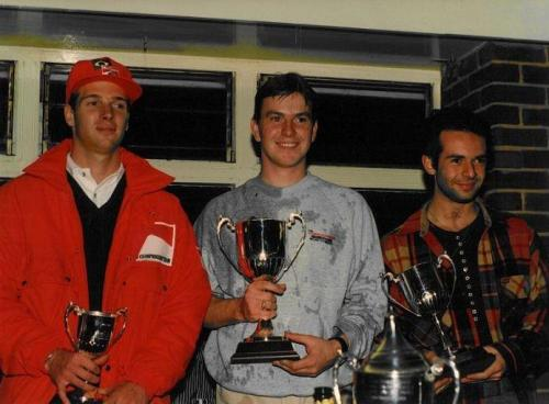 Formula Ford 1800 Zetec Giorgio Vinella October 1995 Festival Brands Hatch with Kevin McGarrity and Mario Haberfeld runner up