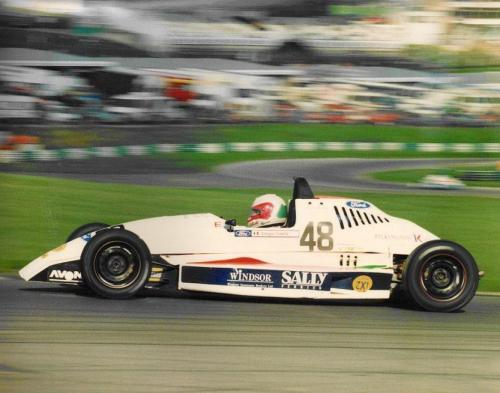 Formula Ford 1800 Zetec Giorgio Vinella october 1995 Olympic Motorsport Festival race final Brands Hatch