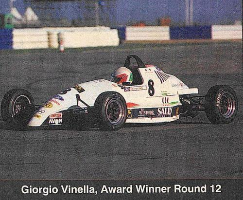 Formula Ford 1800 Zetec Giorgio Vinella 1995 foto Autosport premio Ace of the race