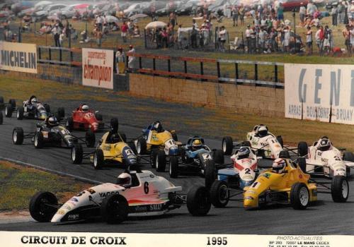 Formula Ford 1800 Zetec Giorgio Vinella 1995 foto testa della gara Campionato Francese gara Croix en Ternois vittoria gara