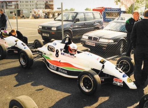 Formula Ford 1800 Zetec Giorgio Vinella 1995 parco chiuso Olympic Motorsport Slick50 British Championship gara Silverstone 1