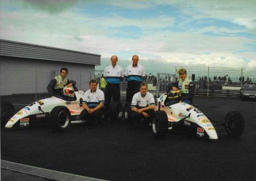 Formula Ford 1800 Zetec Giorgio Vinella 1995 parco chiuso foto Olympic Motorsport Slick50 British Championship
