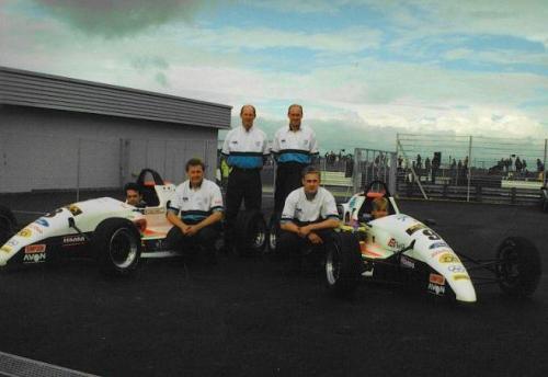 Formula Ford 1800 Zetec Giorgio Vinella 1995 parco chiuso foto Olympic Motorsport Slick50 British Championship 1