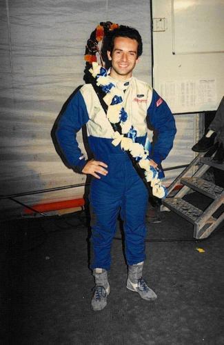 Formula Ford 1800 Zetec Giorgio Vinella Ottobre 1995 Festival Brands Hatch con Kevin McGarrity e Mario Haberfeld 2 classificato