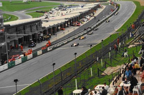 Formula Ford 1800 Zetec Giorgio Vinella Ottobre 1995 Festival Brands Hatch con Kevin McGarrity e Mario Haberfeld 2 classificato leader gara