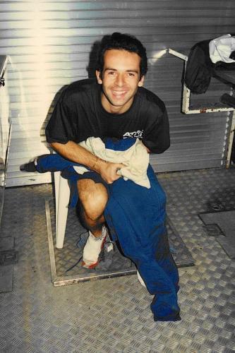 Formula Ford 1800 Zetec Giorgio Vinella Ottobre 1995 Festival Brands Hatch con Kevin McGarrity e Mario Haberfeld 2 classificato tuta