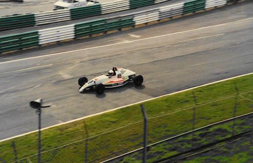 Formula Ford 1800 Zetec Giorgio Vinella Ottobre 1995 Festival Brands Hatch con McGarrity  Haberfeld Webber vittoria semifinale