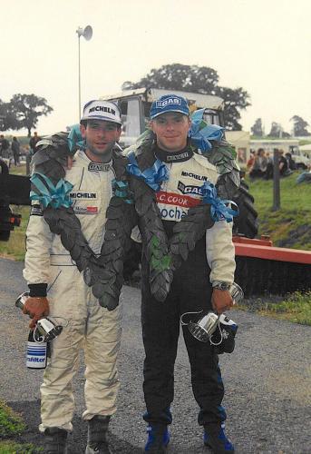 Giorgio Vinella Formula Renault 2000 1996 Knockhill British championship Manor Motorsport Van Diemen  con Giovanni Anapoli