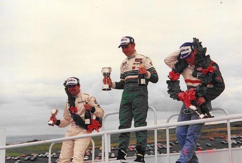 Giorgio Vinella Formula Renault 2000 1997 Knockhill British championship Martello Racing Van Diemen podium Etienne Var der Linde