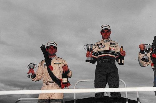 Giorgio Vinella Formula Renault 2000 1997 Knockhill British championship Martello Racing Van Diemen podium Etienne Var der Linde 1