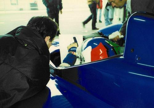 Giorgio Vinella  International Formula 3000 Championship 1998 Imola Coloni box Philippe Gautheron