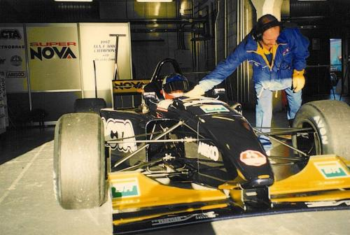 Giorgio VinellaInternational Formula 3000 Championship 1998 Barcellona Test Super Nova box David Sears 1