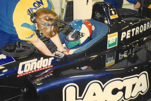 Giorgio Vinella International Formula 3000 Championship 1998 Barcellona Test Super Nova box David Sears 2