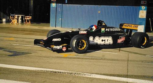 Giorgio Vinella International Formula 3000 Championship 1998 Barcellona Test Super Nova exit box David Sears
