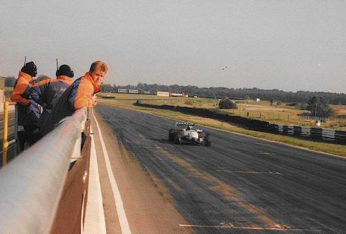 Giorgio Vinella Snetterton Test Formula 3 Dallara Carlin Motorsport 1998 rettilineo partenza