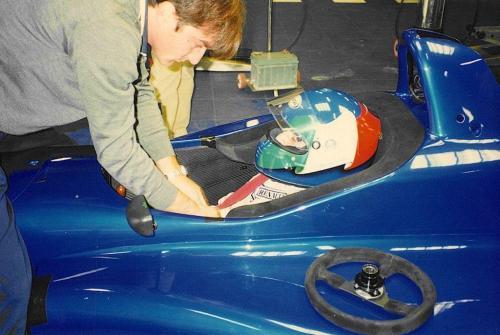 Giorgio Vinella Campionato Internazionale Formula 3000 1998 Barcellona Coloni box Philippe Gautheron