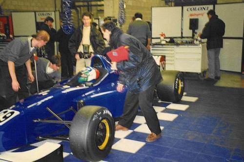 Giorgio Vinella Campionato Internazionale Formula 3000 1998 Barcellona Coloni box Philippe Gautheron test