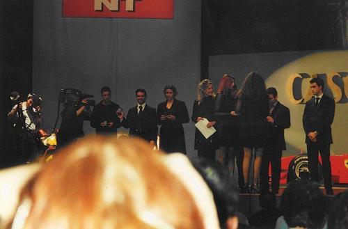 Giorgio Vinella Formula 3000 Championship 1999 Italian Champion Motor Show Bologna Caschi d'oro awards gold medal 1