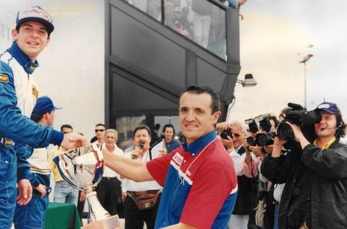 Giorgio Vinella Formula 3000 Championship 1999 Misano AdriaticoTeam Martello Racing win victory podium Thomas Biagi Ghinzani 1