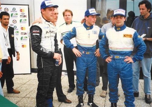 Giorgio Vinella Formula 3000 Championship 1999 Misano AdriaticoTeam Martello Racing win victory podium Thomas Biagi Ghinzani Chinchero