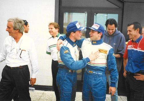 Giorgio Vinella Formula 3000 Championship 1999 Misano AdriaticoTeam Martello Racing win victory podium Thomas Biagi Ghinzani Chinchero 1
