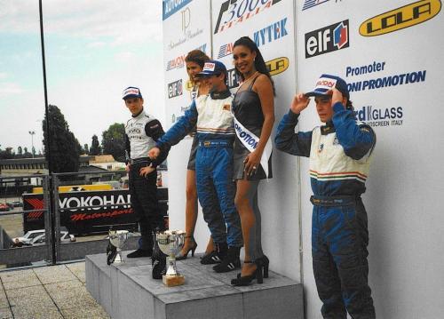 Giorgio Vinella Formula 3000 Championship 1999 Misano AdriaticoTeam Martello Racing win victory podium Thomas Biagi Lupberger 1