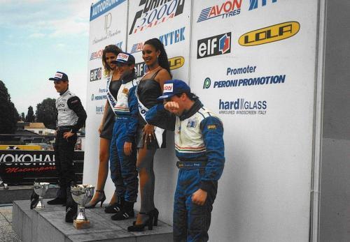 Giorgio Vinella Formula 3000 Championship 1999 Misano AdriaticoTeam Martello Racing win victory podium Thomas Biagi Lupberger 2