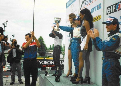 Giorgio Vinella Formula 3000 Championship 1999 Misano AdriaticoTeam Martello Racing win victory podium Thomas Biagi Lupberger 3