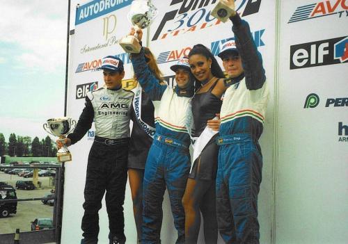 Giorgio Vinella Formula 3000 Championship 1999 Misano AdriaticoTeam Martello Racing win victory podium Thomas Biagi Lupberger 4