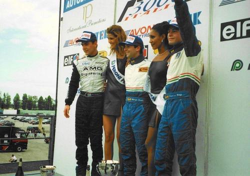Giorgio Vinella Formula 3000 Championship 1999 Misano AdriaticoTeam Martello Racing win victory podium Thomas Biagi Lupberger 5