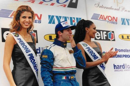 Giorgio Vinella Formula 3000 Championship 1999 Misano AdriaticoTeam Martello Racing win victory podium Thomas Biagi Lupberger 7