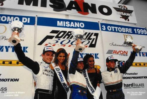 Giorgio Vinella Formula 3000 Championship 1999 Misano AdriaticoTeam Martello Racing win victory podium Thomas Biagi Lupberger 8