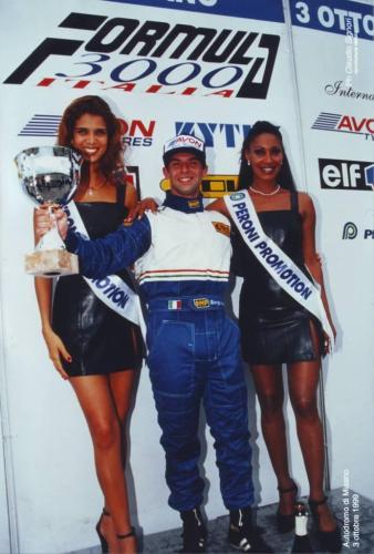 Giorgio Vinella Formula 3000 Championship 1999 Misano AdriaticoTeam Martello Racing win victory podium Thomas Biagi Lupberger 9