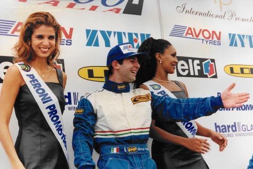Giorgio Vinella Campionato Formula 3000 1999 Misano AdriaticoTeam Martello Racing vittoria podio Thomas Biagi Lupberger 6