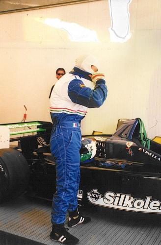 Giorgio Vinella Campionato Formula 3000 1999 Monza Team Martello Racing box