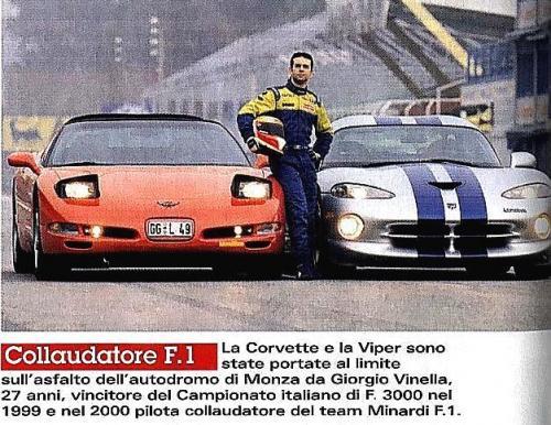 Giorgio Vinella Official Test Driver Formula 1 Champion F3000 Monza Mugello Minardi Alonso  Gené sportscar test Automibilismo