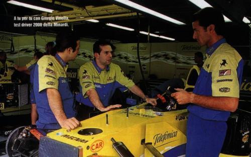 Giorgio Vinella Official Test Driver Formula 1 Champion F3000 Mugello Box Monza Minardi Fernando Alonso  Marc Gené