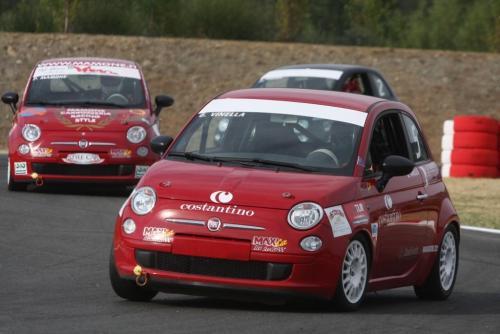 Giorgio Vinella 2008 Fiat 500 Abarth Italian Championship Magione 5