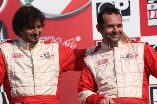 Giorgio Vinella 2008 Fiat 500 Abarth Italian Championship Vallelunga Podium Win victory Miconi Rondinelli 1